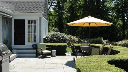 West Falmouth Cape Cod vacation rental - Patio with western exposure