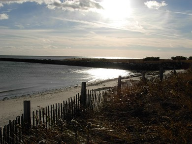 West Harwich Cape Cod vacation rental - 2 minute walk to private 1 mile-long beach, only 5 houses away!
