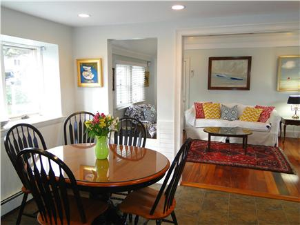 West Harwich Cape Cod vacation rental - Dining area as part of kitchen, facing Den