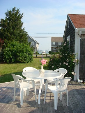 Barnstable Cape Cod vacation rental - Sunset and Water Views from the Teak  Deck