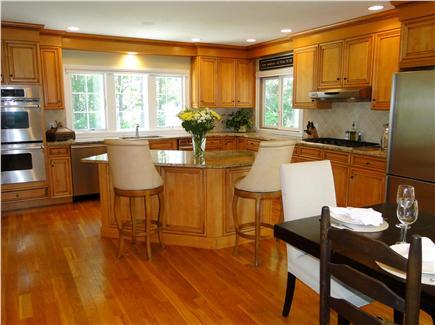 New Seabury, Maushop Village New Seabury vacation rental - Kitchen with modern appliances, breakfast bar