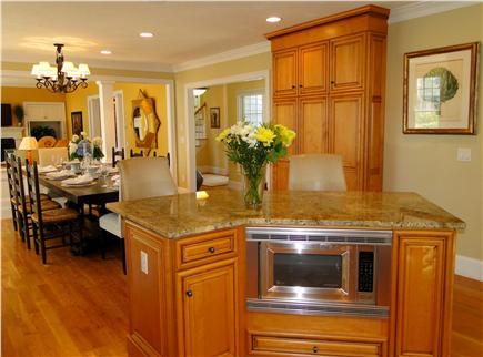 New Seabury, Maushop Village New Seabury vacation rental - Kitchen perfectly situated to deck, grill, dining and porch