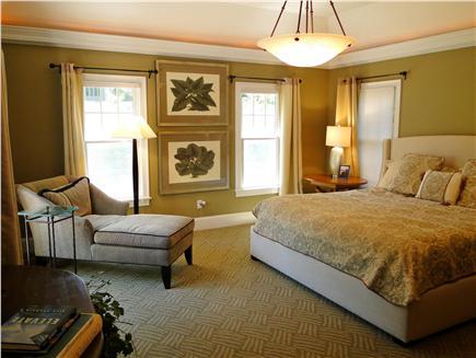 New Seabury, Maushop Village New Seabury vacation rental - King Master on first floor w/ 70 inch TV, sliding doors to deck