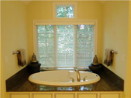 New Seabury, Maushop Village New Seabury vacation rental - Large Master bath: 2 vanities, soaking tub, shower, WIC