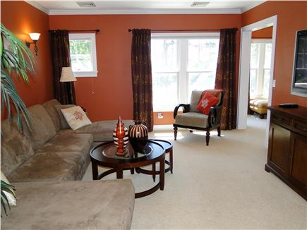New Seabury, Maushop Village New Seabury vacation rental - Upstairs family room, flat screen TV, couch can be made as queen