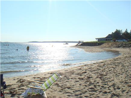 Wellfleet Cape Cod vacation rental - High tide on our private beach--just steps from our house
