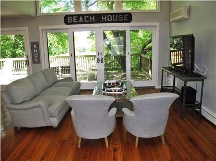 New Seabury, Mashpee New Seabury vacation rental - Bright first floor living room with plasma tv and 2 sitting areas