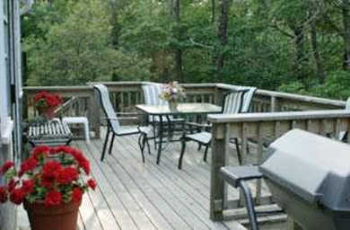 Eastham Cape Cod vacation rental - Peaceful rear deck great for readng, relaxing and dining