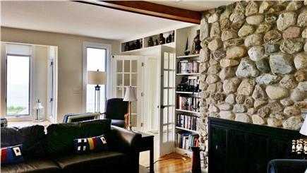 Sagamore Beach, Bourne Sagamore Beach vacation rental - Beach stone fireplace in living room