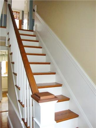 Dennisport Cape Cod vacation rental - Staircase to Additional Bedrooms and Full Bath on Second Floor