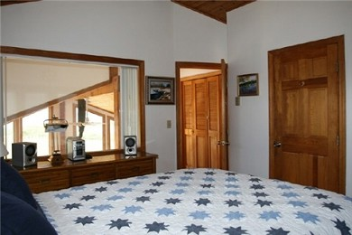 Wareham MA vacation rental - Master Bedroom w/ Queen Size Bed and Wall-Mounted LCD TV