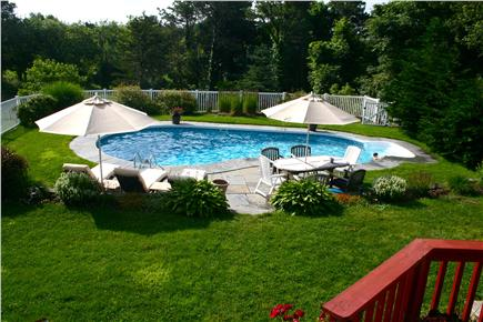 East Orleans Cape Cod vacation rental - Fully fenced solar heated pool