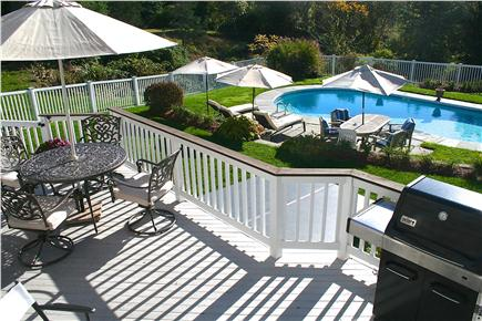 East Orleans Cape Cod vacation rental - Beautiful pool side - 3 chaise lounges & table area