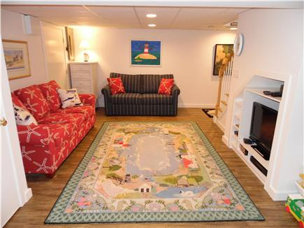 Barnstable Village Cape Cod vacation rental - Enjoy the finished basement level TV and game room