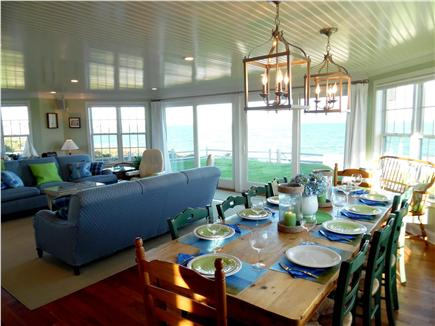 Barnstable Village Cape Cod vacation rental - Enjoy the harbor view from the main living room & while you dine