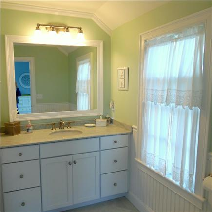 Barnstable Village Cape Cod vacation rental - Master bathroom - finished in marble, with large custom shower