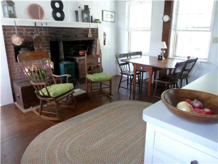 Truro Cape Cod vacation rental - The country kitchen has a new diswasher and a new oven.