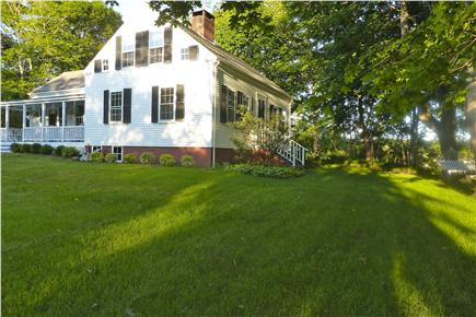 Truro Cape Cod vacation rental - There is a hammock to relax in on the river side of the house