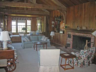 Woods Hole Woods Hole vacation rental - Living room facing Bay