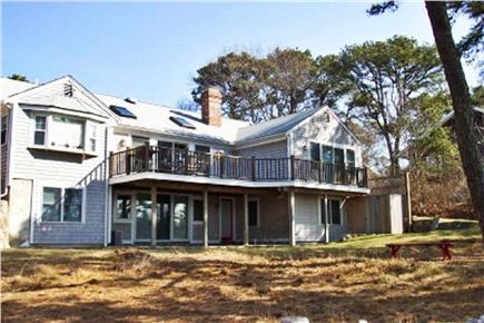 Brewster Cape Cod vacation rental - Rear view of house- almost all rooms have a water view!