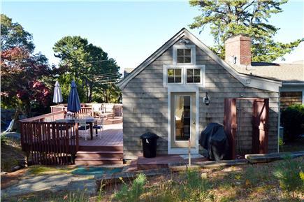 New Seabury New Seabury vacation rental - 14x30 Trex deck, Pottery Barn furniture & outdoor shower & grill