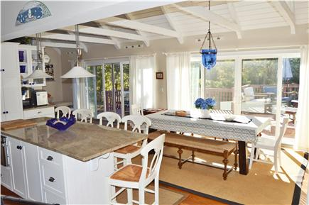 New Seabury New Seabury vacation rental - Cathedral Kitchen,  table for 8 with 2 14 ft sliders to Trex deck