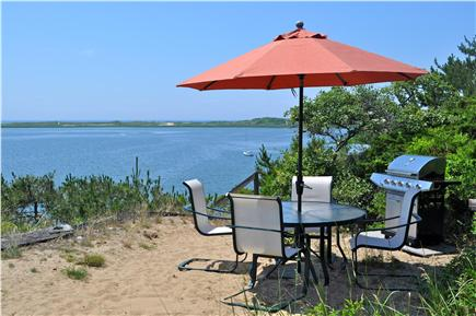 Wellfleet Cape Cod vacation rental - Undisturbed Beach level sitting area and grill