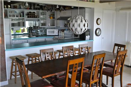 Wellfleet Cape Cod vacation rental - Eat in Kitchen and Dining Area with sweeping views of the bay