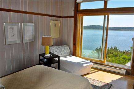 Wellfleet Cape Cod vacation rental - Spacious Master Bedroom with view out to the cove