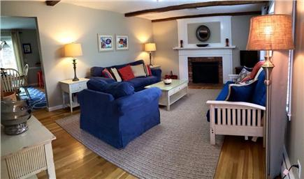 Dennis Cape Cod vacation rental - Comfortable, fireplaced living room