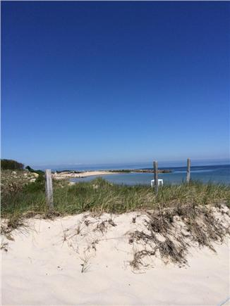 Dennis Cape Cod vacation rental - View of the jetty at Corporation Beach.