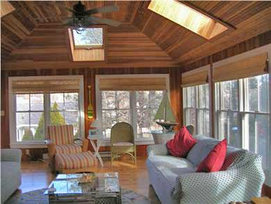 Mashpee, Popponesset Cape Cod vacation rental - Family Room with plenty of windows/skylights for cool breezes