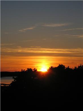 Wellfleet Cape Cod vacation rental - Sunset From The Deck