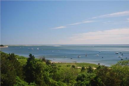 No. Chatham Cape Cod vacation rental - View looking North to Town Landing and Minister's Point
