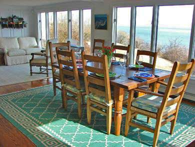 North Chatham Cape Cod vacation rental - Gather for meals in the open dining room with panoramic views