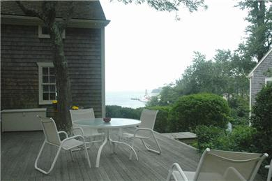 Woods Hole, Falmouth Woods Hole vacation rental - Kitchen opens with French doors onto deck with water views.