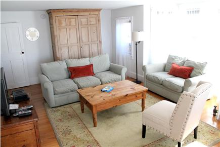 Woods Hole, Falmouth Woods Hole vacation rental - Sunny modern living room with views out towards the Vineyard.