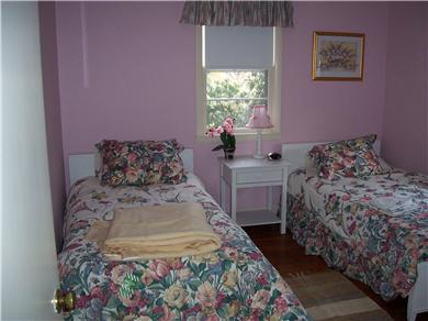 Falmouth Cape Cod vacation rental - Pink room with 2 twin beds