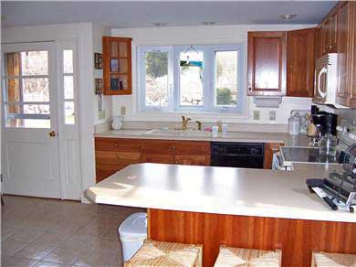 Falmouth Cape Cod vacation rental - Sunny kitchen with breakfast counter