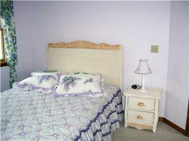 Falmouth Cape Cod vacation rental - Lavender room with double bed.  Upstairs.