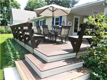 East Falmouth ( Belmar) Cape Cod vacation rental - Deck, Patio Furniture, Covered Porch and Grill