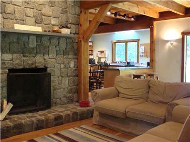 Falmouth - Quissett Harbor Cape Cod vacation rental - Through the living room into the kitchen