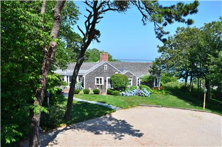 Chatham Cape Cod vacation rental - Approaching main house with harbor view to the right.