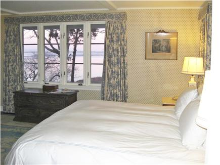Chatham Cape Cod vacation rental - Master bedroom has views of harbor and ocean .