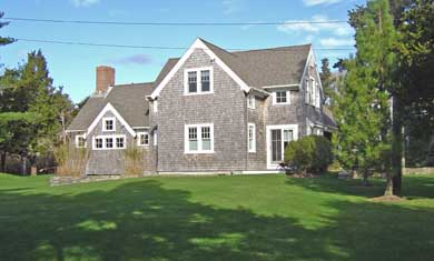 East Orleans Cape Cod vacation rental - Side view of home and yard