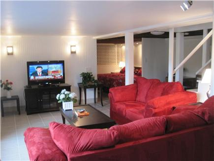 West Yarmouth - Lewis Bay Cape Cod vacation rental - Lower Level Rec. Rm., with Water views, Full Bath, Guest Bedroom