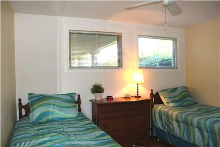 West Yarmouth - Lewis Bay Cape Cod vacation rental - Bedroom #3, Twin Beds, new mattress & comforters.
