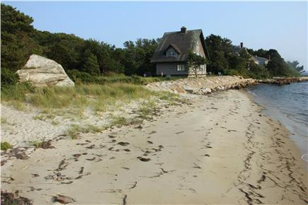 Woods Hole Woods Hole vacation rental - View of the house from the private beach