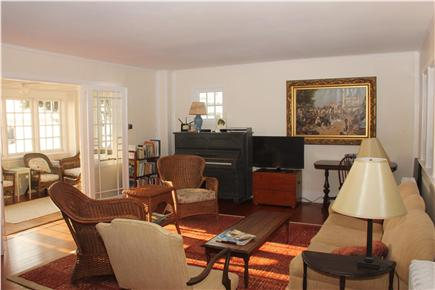 Woods Hole Woods Hole vacation rental - Comfortable, sunny living room with new HDTV