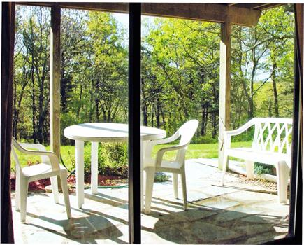 Brewster Cape Cod vacation rental - Lower patio